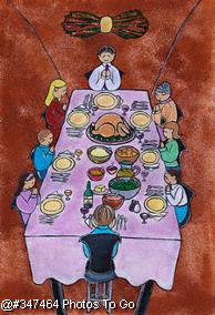 Illustration: Thanksgiving dinner